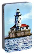 Chicago Il - Chicago Harbor Lighthouse Portable Battery Charger