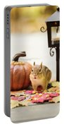 Chipmunk In The Autumn Portable Battery Charger