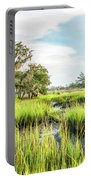 Chisolm Island - Marsh At Low Tide Portable Battery Charger