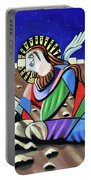 Christ Will Come Again Portable Battery Charger by Anthony Falbo