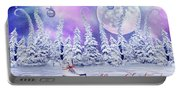 Christmas Card With Ice Skates Portable Battery Charger