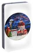 Christmas Greeting In Florence  Portable Battery Charger