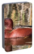 Cinnamon Teal On The Pond Portable Battery Charger