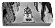 City Hall In Center City Philadelphia In Black And White Portable Battery Charger