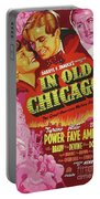 Classic Movie Poster - In Old Chicago Portable Battery Charger