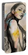 Cleansing Undertones - Zentangle Nude Girl Drawing Portable Battery Charger