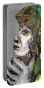 Clear Grey Sky Portrait Portable Battery Charger