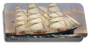 Clipper Ship Three Brothers, The Largest Sailing Ship In The World Published By Currier And Ives Portable Battery Charger