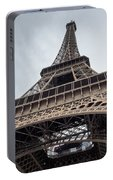 Close Up View Of The Eiffel Tower From Underneath  Portable Battery Charger