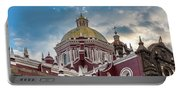 Clouds Over Puebla Cathedral Portable Battery Charger