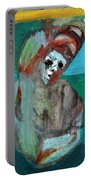 Clown At A Table Portable Battery Charger