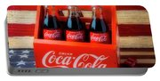 Coke And American Flag Portable Battery Charger