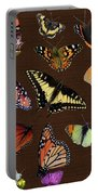 Collage Of Ca Butterflies Portable Battery Charger