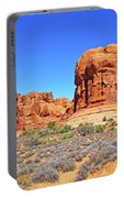 Colorado Arches Park Landscape Scrub Red Rocks Blue Sky 3335 Portable Battery Charger