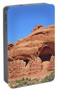 Colorado Arches Park Landscape Scrub Red Rocks Blue Sky 3340 Portable Battery Charger