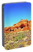 Colorado Arches Spires Red Rocks Scrub Blue Sky 3336 Portable Battery Charger