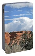 Colorado National Monument Colorado Blue Sky Red Rocks Clouds Trees Portable Battery Charger