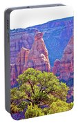 Colorado National Monument Colorado Blue Sky Red Rocks Clouds Trees 2 10212018 2871.jpg Portable Battery Charger