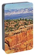 Colorado National Monument Trees Rock Formations 3087 Portable Battery Charger