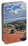 Colorado National Monument Trees Rock Formations Clouds 3001 Portable Battery Charger