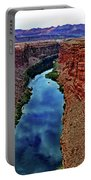 Colorado River From The Navajo Bridge 001 Portable Battery Charger