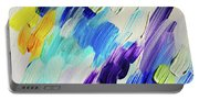 Colorful Rain Fragment 1. Abstract Painting Portable Battery Charger