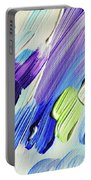 Colorful Rain Fragment 2. Abstract Painting Portable Battery Charger