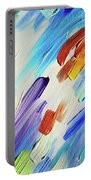 Colorful Rain Fragment 3. Abstract Painting Portable Battery Charger
