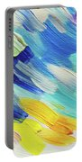 Colorful Rain Fragment 5. Abstract Painting Portable Battery Charger