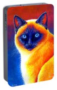 Colorful Siamese Cat Portable Battery Charger
