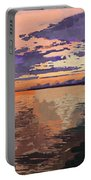 Colorful Sunset Over The Gulf Of Mexico Portable Battery Charger