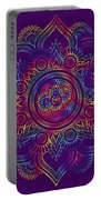 Colourful Rainbow Mandala Lavender Portable Battery Charger