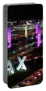 Coming And Going In The Heart Of L A At Night-time Portable Battery Charger