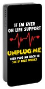 Computer Unplug Geek Pun Apparel Portable Battery Charger