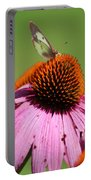 Cone Flower Butterfly At Rest Portable Battery Charger