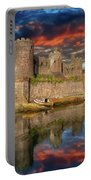 Conwy Castle Sunset Portable Battery Charger by Adrian Evans