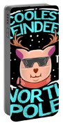 Coolest Reindeer At The North Pole Portable Battery Charger