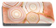 Coral Agate Abstract Portable Battery Charger