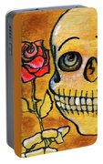 Corazon Sugarskull Holding Rose Portable Battery Charger