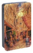 Corfu Town Street Scene Portable Battery Charger