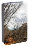 Cottonwood Arizona Jail Trail Trees Path Sky Clouds 5229 Portable Battery Charger