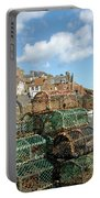 Crail Harbour And Lobster Pots Portable Battery Charger