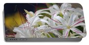 Crinum Lily Closeup Portable Battery Charger