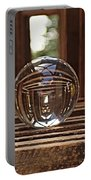 Crystal Ball In Wooden Lanterns Portable Battery Charger