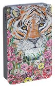 Cuddles The Tiger Small  Portable Battery Charger