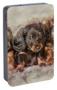 Dachshund Three Puppies Portable Battery Charger