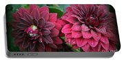 Dahlias In Crimson Red Portable Battery Charger