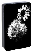 Daisy And Thistle Black And White Portable Battery Charger