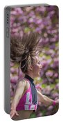 Dancing And Cherry Blossoms Portable Battery Charger