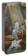 Daniel In The Den Of Lions  Engraving By Gustave Dore Portable Battery Charger